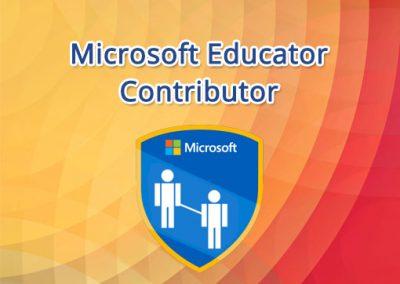 Microsoft Educator Contributor