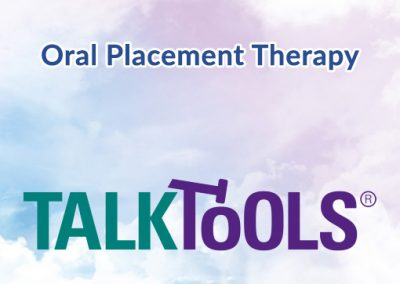 Oral Placement Speech Therapy